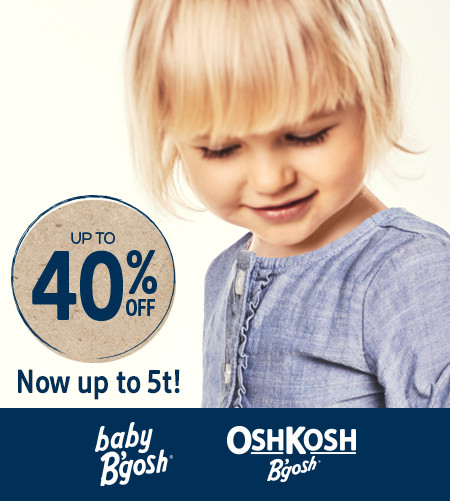 Up To 40% Off Baby B'gosh Now Up To 5t!
