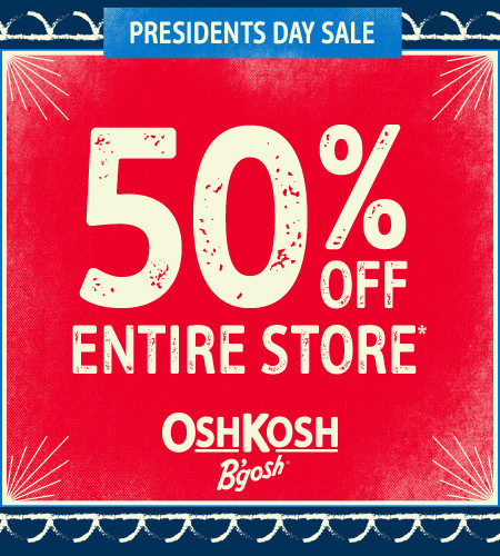 Presidents Day Sale 50% Off Entire Store