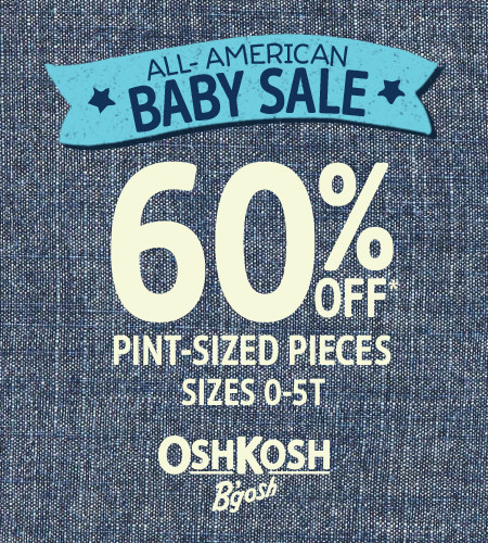 All-American Baby Sale 60% Off* Pint-Sized Pieces