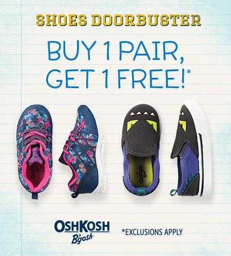 Shoes Doorbuster Buy 1 Pair, Get 1 Free!