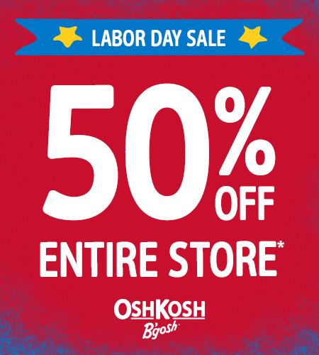 Labor Day Sale 50% Off Entire Store