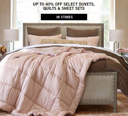 Up to 40% Off Select Duvets, Quilts & Sheet Sets at Pottery Barn