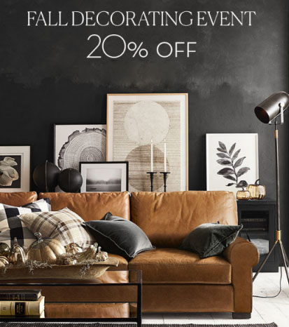 Pottery Barn 20 Off Fall Decorating Event