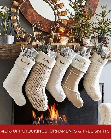 Pottery Barn 40 Off Stockings Ornaments Tree Skirts