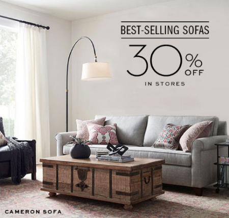 Victoria Gardens ::: 30% Off Best-Selling Sofas ::: Pottery Barn