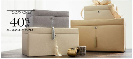 40% Off All Jewelry Boxes