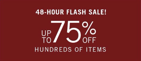 48-Hour Flash Sale up to 75% Off