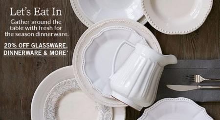 20% Off Glassware, Dinnerware & More at Pottery Barn