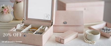 20% Off All Jewelry Boxes