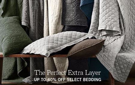Up to 40% Off Select Bedding at Pottery Barn