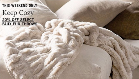 20% Off Select Faux Fur Throws