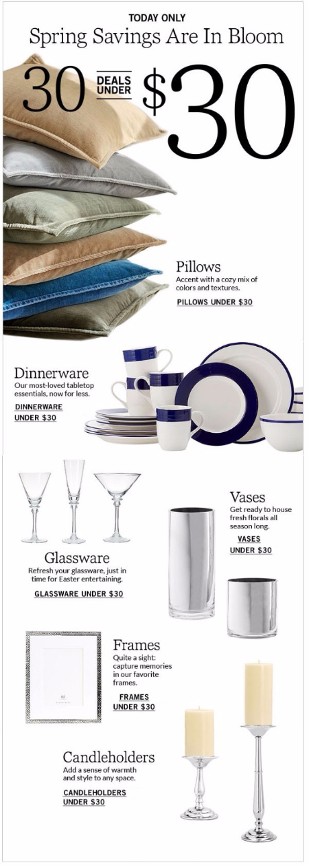 30 Deals Under $30 at Pottery Barn