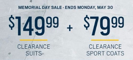 Huge Savings on Memorial Day Sale