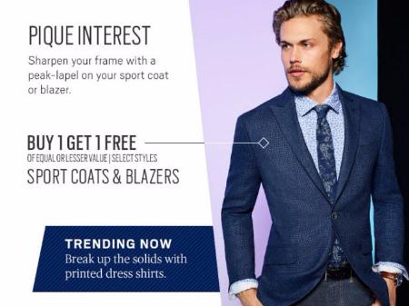 Zona Rosa ::: Buy 1, Get 1 Free Sportcoats & Blazers ::: MEN'S ...