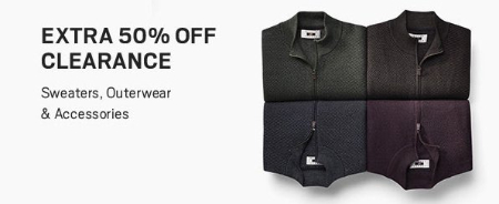 Extra 50% Off Clearance Sweaters, Outerwear & Accessories from Men's Wearhouse