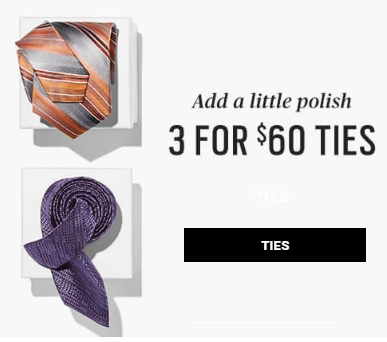 3 for $60 Ties