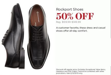 50% Off Rockport Shoes at Men's Warehouse & Tux