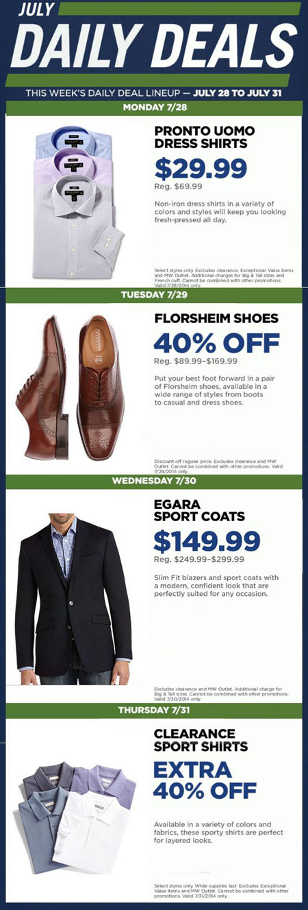 This Week's Daily Deal at Men's Wearhouse