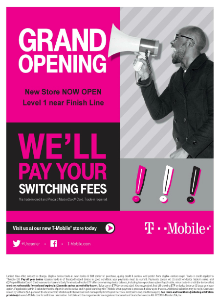 T-Mobile Now Open in New Location