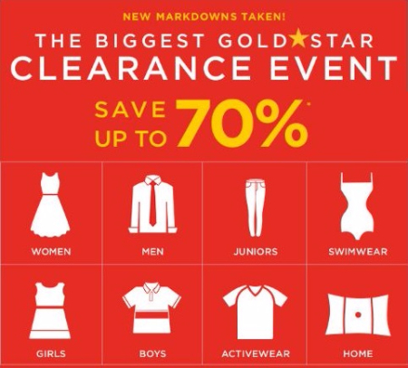 Goldstar Clearance Event up to 70% Off