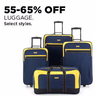 55-65% Off Luggage