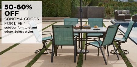 50–60% Off Sonoma Goods for Life Outdoor Furniture & Décor