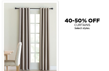 40-50% Off Curtains
