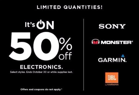 50% Off Electronics