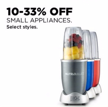 10–33% Off Small Appliances