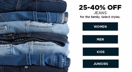 25–40% Off Jeans for the Family