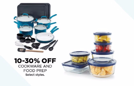 10–30% Off Cookware and Food Prep