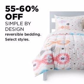 55–60% Off Simple by Design Reversible Bedding