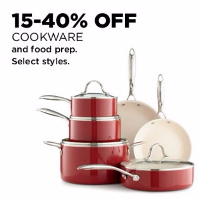 15-40% Off Cookware & Food Prep