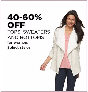 40–60% Off Tops, Sweaters & Bottoms