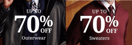 Up to 70% Off Outerwear & Sweaters