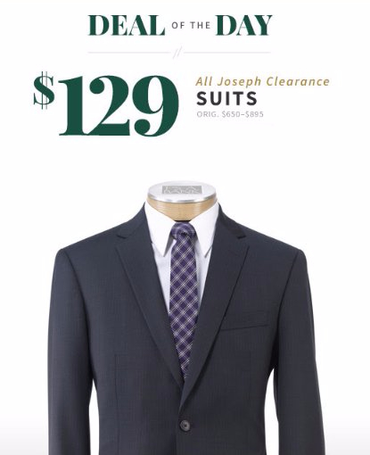 $129 All Joseph Clearance Suits