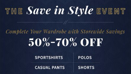 50% - 70% Off Everything