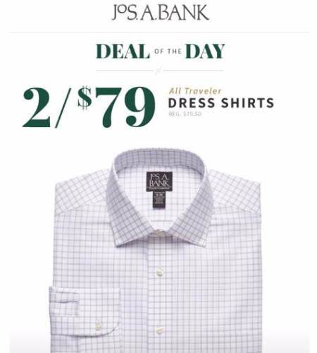 2 for $79 All Traveler Dress Shirts