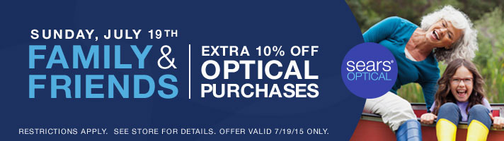 Buy One Get One Free at Sears Optical