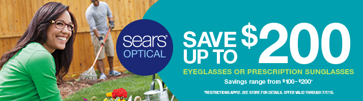 New Offer at Sears Optical