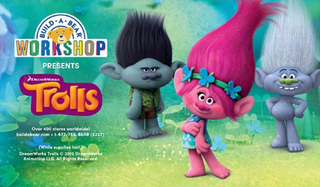 Poppy, Branch & Guy Diamond have made their way into Build-A-Bear Workshop