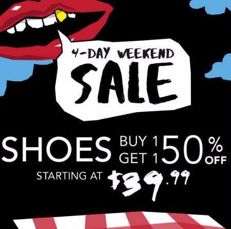 Shoes BOGO 50% Off