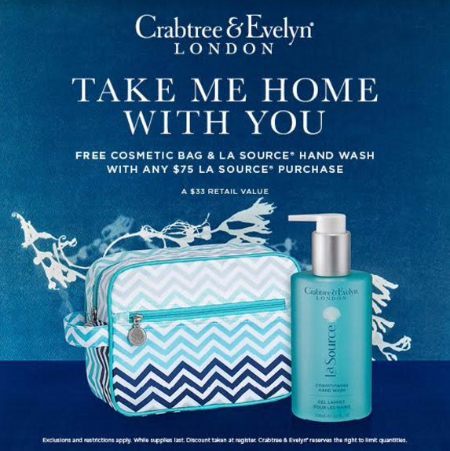 Free Cosmetic Bag & La Source Hand Wash