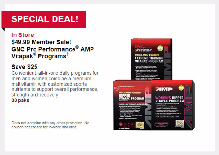 $49.99 Member Sale at General Nutrition Center - GNC