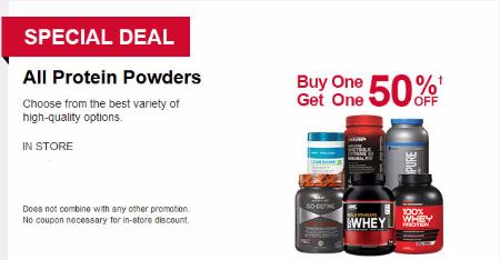 BOGO 50% Off Protein Powders