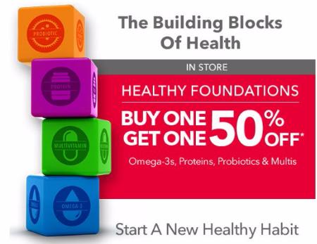 BOGO 50% Off Omega-3s, Proteins, Probiotics & Multis