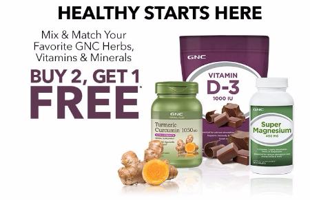 All GNC Herbs, Vitamins & Minerals B2G1 Free