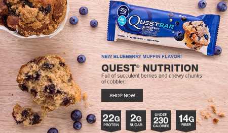 Our New Blueberry Muffin Quest Bar