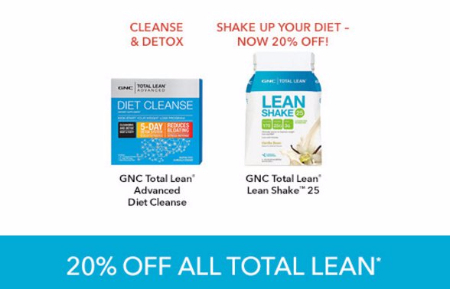20% Off All Total Lean