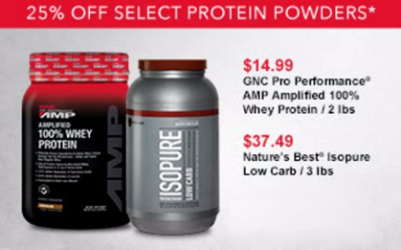 GNC | 25% Off Select Protein Powders